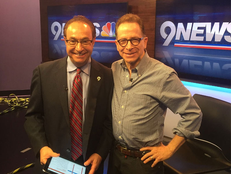 Mike King with Gary Shapiro of 9 News